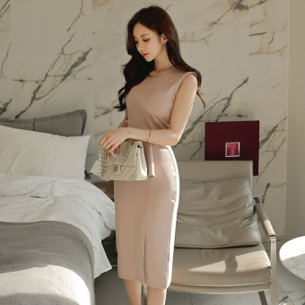 Debutante fashion New style Slim fit round neck dress