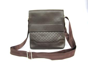 Delika Men'S Messenger Slingbag #5509 (Coffee Brown)