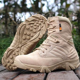 Delta Brand Men's Military Tactical Boots Desert Combat Outdoor Army Travel Boots - beige - intl Price Philippines