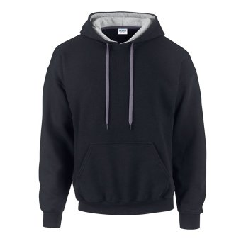 DG Classic Fit Adult Unisex Pullover Hooded Sweatshirt (Black/Grey) Price Philippines