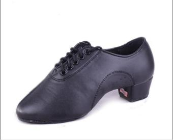 DIKE Men's Boy's Adult Latin Ballroom/Tango Dance Shoes Dance Sneakers Leatherette Practice Shoes Low Heel Black - intl