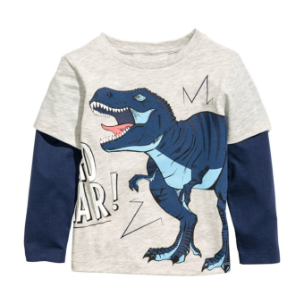 Dinosaur European and American New style boy's short sleeved t-shirt