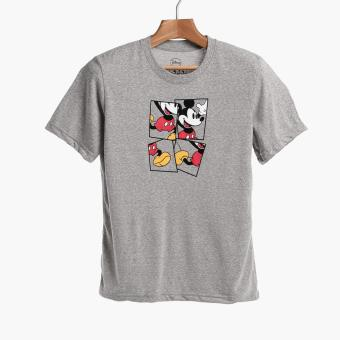 Disney Mickey Mouse Boys Teens Graphic Tee (Gray)