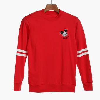 Disney Mickey Mouse Boys Teens Sweat Shirt (Red)