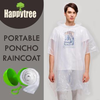 Disposable Emergency Poncho Rain Coat with Ball Shape Cases