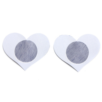 Disposable Sexy Love Heart Adhesive Breast Nipple Cover (Blue) - picture 2