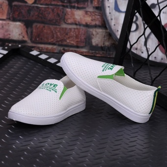 DM flat small white sail cloth shoes for women's shoes joker apedal - intl