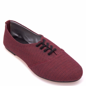 Doll Me Up Shoes Ms Oxford (Burgundy) with Free AVON Product Price Philippines