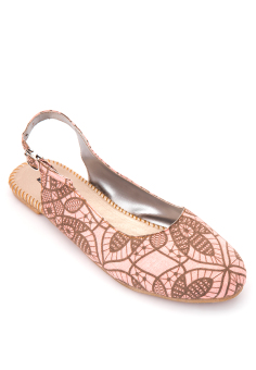 Doll Me Up Shoes Rosie's Sling Flats (Pink)