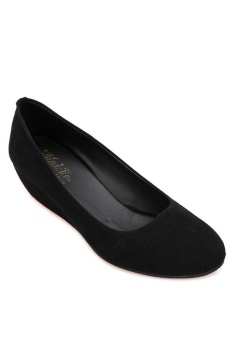 Doll Me Up Shoes Simply Ebony Wedges (Black) with Free AVON Product Price Philippines