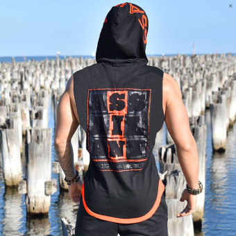 Dr. muscle autumn sleeveless vest (Black) Price Philippines