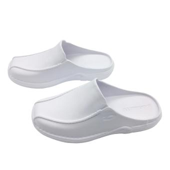 Duralite Sandals Enzo Everyday Slip on White Shoes Walking Home Comfortable Work Rain Office Wear