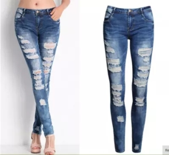 Ebay fashion jeans woman ripped jeans for Women jeans 3473