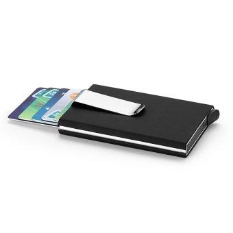 EGC Men Aluminum Slim Id Credit Card with Protector HolderPursewallet Money Clip (Black) - intl - 2