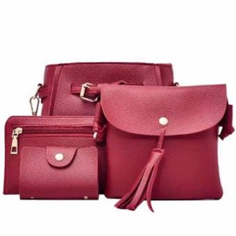 Elena 0011 Premium Bag Set (Red)