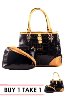 Elena 2173 Premium Bag Set (Black) BUY 1 TAKE 1
