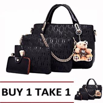 Elena 3203 Premium Bag Set (Black) Buy1Take1