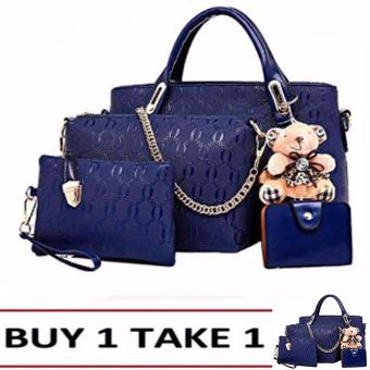 Elena 3203 Premium Bag Set (Blue) Buy1Take1