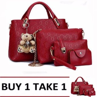 Elena 3203 Premium Bag Set (Red) Buy1Take1