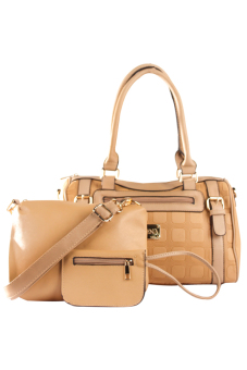 Elena 5676 Premium Bag Set (Khaki)