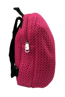Elena 606 Backpack (Pink) with Free Unisex Silicone Strap Digital Led Watch (Assorted Color) - 2