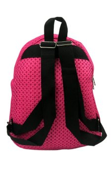 Elena 606 Backpack (Pink) with Free Unisex Silicone Strap Digital Led Watch (Assorted Color) - 3