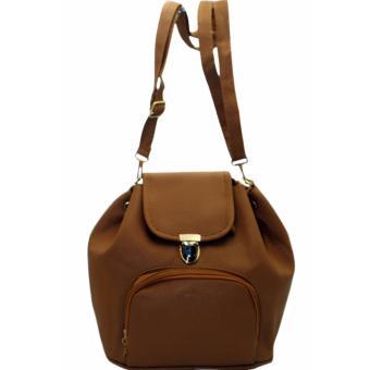 Elena 6128 Convertible Shoulder Bag/Backpack (Dark Grey) - 4