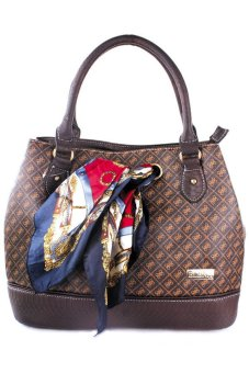 Elena E-3332 Shoulder Bag with Sling Bag and Wallet (Coffee)