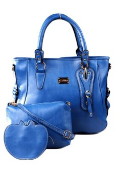 Elena E336 Shoulder Bag with Sling and Wallet (Blue) Price Philippines