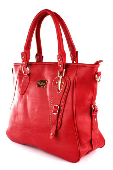 Elena E336Shoulder Bag With Sling And Wallet (Red) - 3