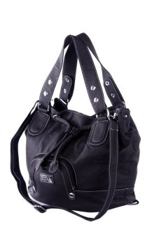 Elena F288-1 Shoulder Bag (Dark Blue)