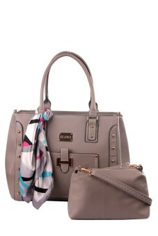 Elena X-11012 Shoulder Bag with Sling Bag (Grey) Price Philippines