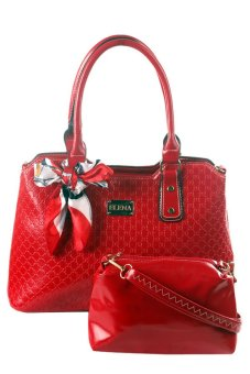 Elena X-11018 Shoulder Bag with Sling Bag (Red) Price Philippines