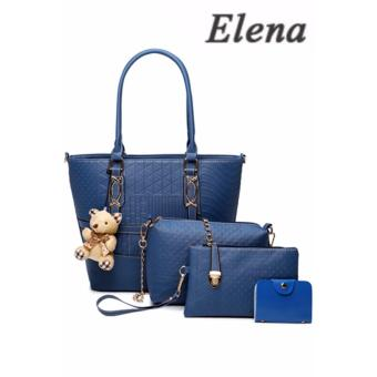 Elena X-519 5 in 1 Premium Bag Set (Blue)With Mini Teddy