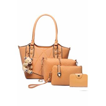 Elena X-520 5 in 1 Premium Bag Set (Apricot)With Mini Teddy
