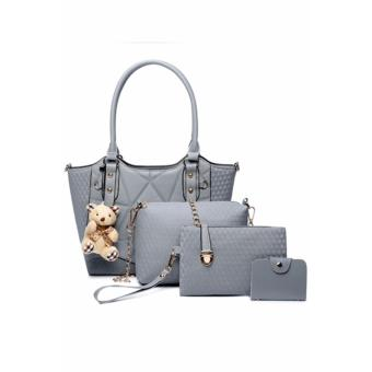 Elena X-520 5 in 1 Premium Bag Set (Grey)With Mini Teddy