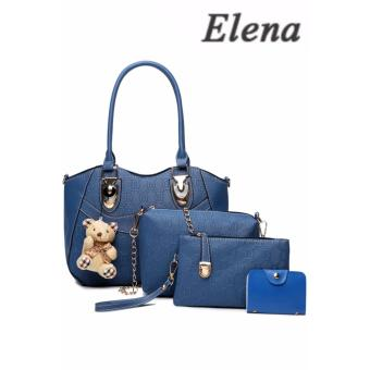 Elena X-521 5 in 1 Premium Bag Set (Blue)With Mini Teddy