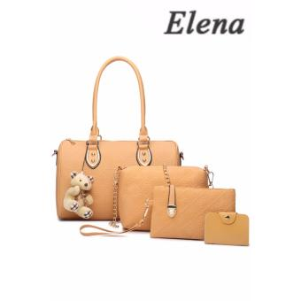 Elena X-522 5 in 1 Premium Bag Set (Apricot)With Mini Teddy