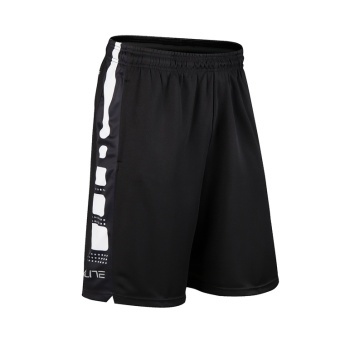 Elite breathable quick-drying running fitness shorts basketball shorts (Elite # black and white)