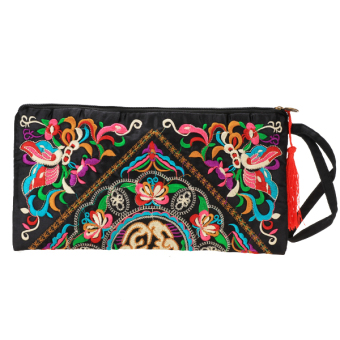Embroider Butterfly Flower Purse (Multicolor)