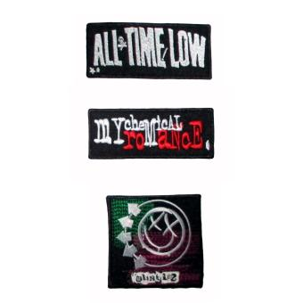 Embroidered Iron on Band Logo Patches All Time Low, My ChemicalRomance and Blink 182