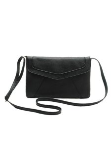 Envelope Satchel Shoulder Bag Handbag Black