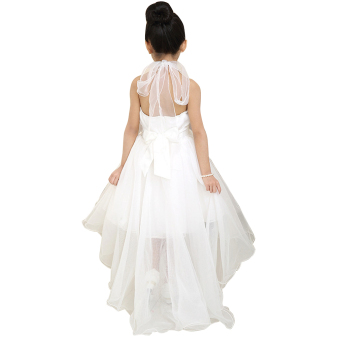 EOZY 2016 Summer Fashion Girls Dress Kids Dresses White PrincessTutu Dress For Birthday Photo Wedding Party (White) - Intl - 3