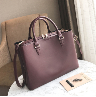 European and American female New style atmosphere large bag (Purple)