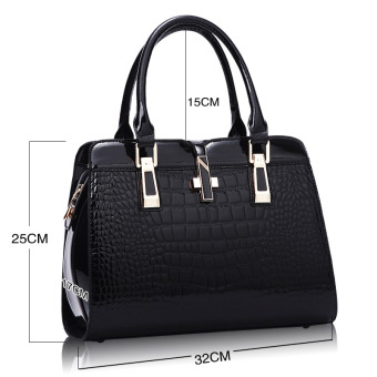European and American female New style winter mommy bag (Black)