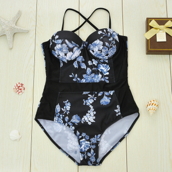 European and American New style Print halter swimsuit