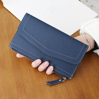 European and American New style women's clutch bag Women's wallet (Blue)