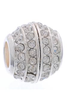 European Charm Alloy Beads B26365 Silver Plated