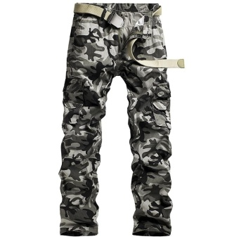 European Hot Sale Men's Camo Casual Pants Sports Loose Cargo PantsCamouflage Tactical Trousers Army Trousers Combat Trousers OutdoorWork Durable Overalls Pants - intl