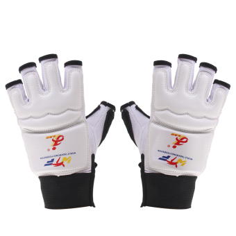 EVA Pad Taekwondo Hand Protector Gloves Karate Sparring Boxing Gear White XS